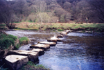'Stepping stones over the Barle near Withypool